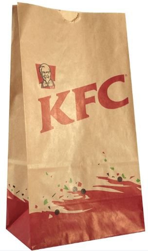 KFC-food-kraft-paper-square-bottom