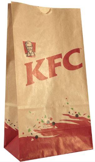 KFC-food-kraft-paper-square-bottom