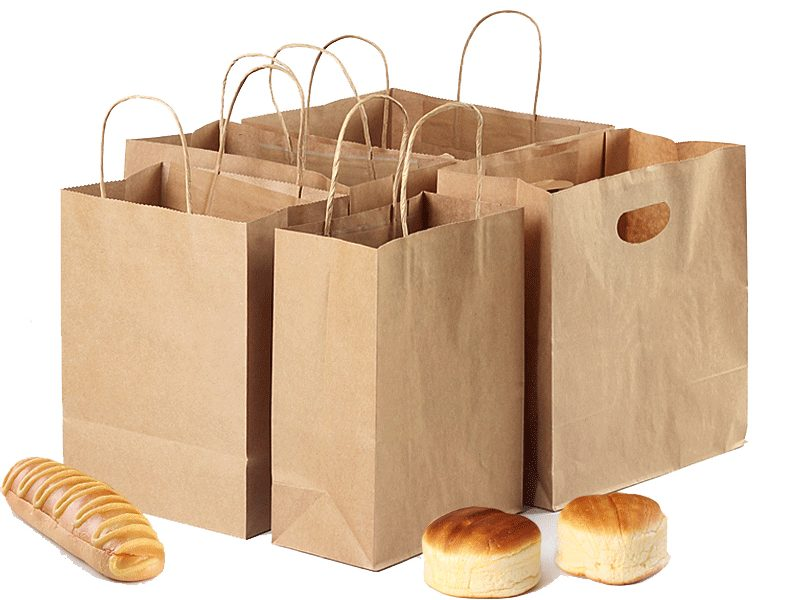 Food-grade-brown-paper-bag-with-own