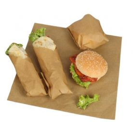 Grease Proof Food Wrapping Paper Brown