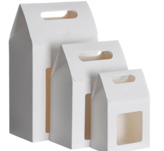 White Window Paper Bags